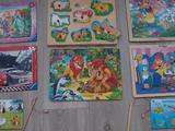 Продам деревянные игрушки и пазлы (пакетом)