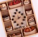 Часы интерьерные с природными материалами